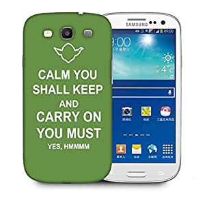 Snoogg Keep Calm And Carry On Designer Protective Back Case Cover For Samsung Galaxy S3