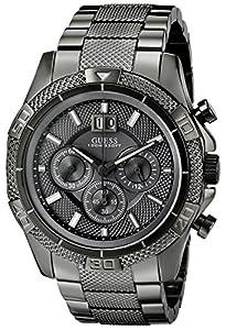 GUESS Men's U22504G1 Powerful Gunmetal Chronograph Watch