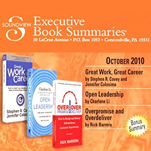 Soundview Executive Book Summaries, October, 2010 | [Stephen R. Covey, Jennifer Colosimo, Charlene Li, Rick Barrera]