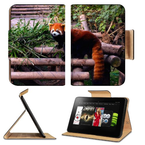 Red Panda Stairs Building Climbing Leaves Amazon Kindle Fire Hd 8.9 [2012 Version] Flip Case Stand Magnetic Cover Open Ports Customized Made To Order Support Ready Premium Deluxe Pu Leather 9 13/16 Inch (250Mm) X 6 7/8 Inch (175Mm) X 11/16 Inch (17Mm) Lii front-941237