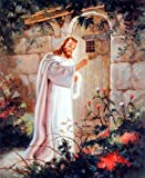 Jesus Christ Knocking At the Door Religious and Spiritual Art Print Poster (16x20)