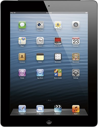 Apple® 16GB iPad with Retina display Wi-Fi + 4G LTE Cellular (Factory Unlocked) - Black