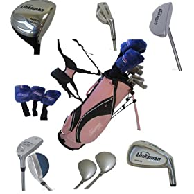 Linksman Golf X7 Ladies Left Handed Complete Golf Set with Stand Bag Standard Length