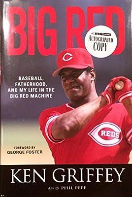"Ken Griffey Sr. Cincinnati Reds Autographed Book ""Big Red"" w/ JSA COA"