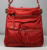 In Style Spacious Messenger & Cross Body for Young Women and Girl Handbag (Red)