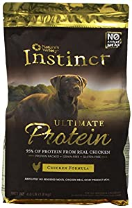 Instinct Ultimate Protein Chicken Formula Dry Food for Dogs, 4-Pound