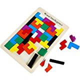 Early Education colorful Wooden Tangram Brain Tetris Block Intelligence Puzzle for Preschool Children Playing