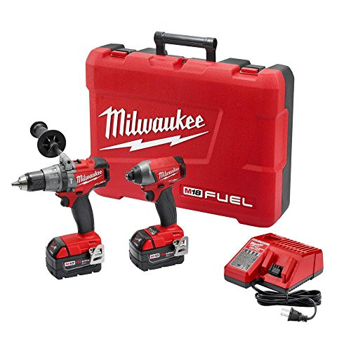 Milwaukee 2897-22 M18 18-Volt Lithium-Ion Cordless Brushless Hammer Drill/Impact Driver Combo Kit (Latest Model) (Milwaukee 18v Drill Driver compare prices)