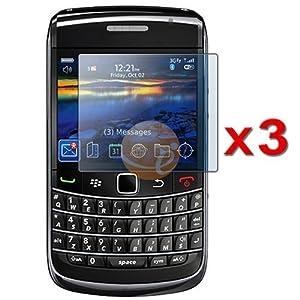 Three LCD Screen Guards / Protectors for RIM BlackBerry Bold 9700