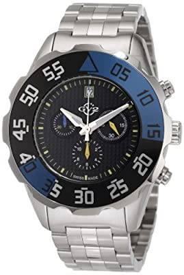 GV2 by Gevril Men's 3001B Parachute Chronograph Bracelet Date Watch