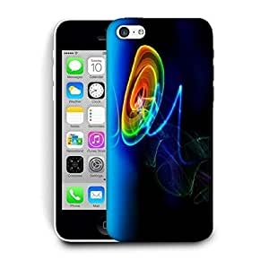 Snoogg Neon Circles Printed Protective Phone Back Case Cover For Apple Iphone 6+ / 6 Plus
