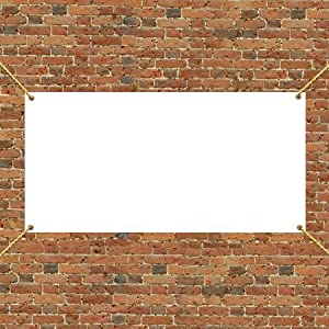 4 39 X 8 39 Vinyl Banner Blank 10 Oz Vinyl Banner And Sign Cloth Office Products