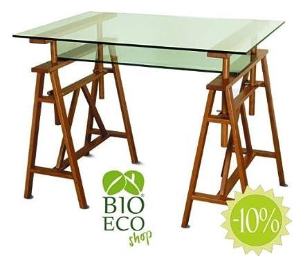 Bioecoshop Tavolo Da Lavoro Orizzontale In Legno Massello Di Faggio Bioeco DF PAR01 Made In Italy