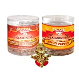 Chocholik Dry Fruits - Almonds Smoked Barbeque & Lemon Pepper With Ganesha Idol - Diwali Gifts - 2 Combo Pack