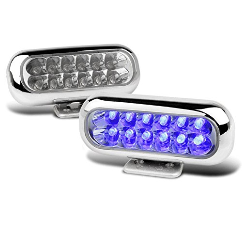 ZMAUTOPARTS Universal Front Bumper Blue LED DRL Fog Light Lamp Acura Audi BMW Cadillac Chevy (97 Integra Bumper Lights compare prices)