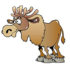 Amazon.com: Children's Wall Decals - Cartoon Moose - 24 inch Removable