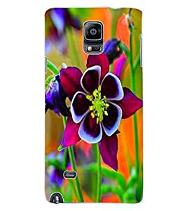 ColourCraft Beautiful Flower Design Back Case Cover for SAMSUNG GALAXY NOTE 4
