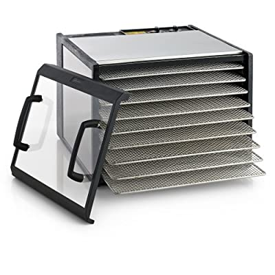 Excalibur 9-Tray Clear Door Stainless Steel Dehydrator w/Stainless Steel Trays, Model D900CDSHD from Excalibur Dehydrators