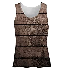 Snoogg Old Wood Textures Womens Tunic Casual Beach Fitness Vests Tank Tops Sleeveless T shirts