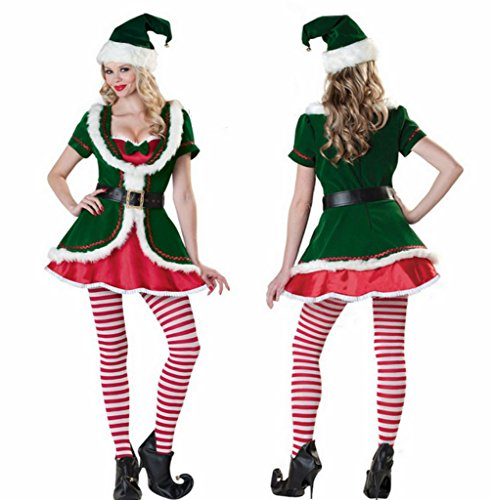 Nicewishes Costumes Women's Santa's Helper Adult/Women's Holiday Honey Elf Costume