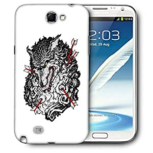 Snoogg Grey Wolf And Arrow Designer Protective Back Case Cover For SAMSUNG Galaxy Note 2 N7100
