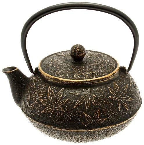 Iwachu Japanese Iron Teapot/Tetsubin, Gold and Black Maple (Japanese Teapot Iwachu compare prices)