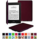 Fintie Kindle Paperwhite SmartShell Case - The Thinnest and Lightest Leather Cover for All-New Amazon Kindle Paperwhite (Fits All versions: 2012, 2013, 2014 and 2015 New 300 PPI), Purple