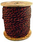 Bon 84-493 600-Feet 5/8-Inch Diameter Polypropylene Truck Rope, Black/Orange