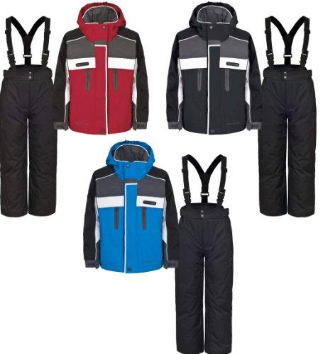Boys Girls TRESPASS SUMACO Ski Jacket & Salopettes Pants Suit Set Black Blue or Red Ages 2-14