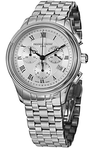 Frederique Constant Men's FC292MC4P6B2 Classics Analog Display Swiss Quartz Silver Watch image