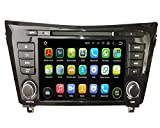 8 Zoll 2 Din Android 5.1.1 Lollipop OS Autoradio für Nissan QashQai/X Trail(2014 2015), kapazitiver Touchscreen mit Quad Core 1.6G Cortex A9 CPU 16G Flash und 1G DDR3 RAM GPS Navi Radio DVD Player 3G/WIFI Aux Input OBD2 USB/SD IPOD DVR