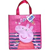 Disney Girls' Official Disney Characters Shopping Carry Bag Peppa Pig Stripes
