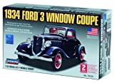 Lindberg 1934 Ford 3 Window Coupe 1/32 Scale Model Car Kit