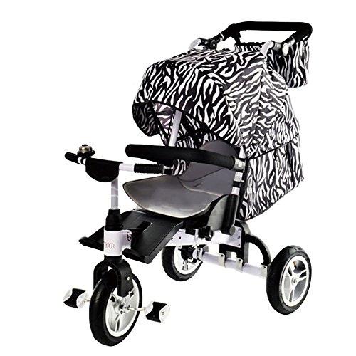 OLizee-Ultimate-3-in-1-Stroller-Baby-Can-Lie-Down-Kids-Tricycle-Stroller-Combo-Folding-Child-Trike-Bike-with-Canopy-Storage-Bag