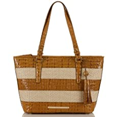 Medium Asher Tote<br>Raffia Vineyard Whiskey