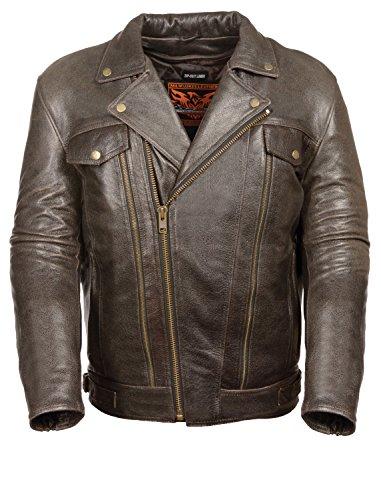 milwaukee s utility pocket motorcycle leather jacket