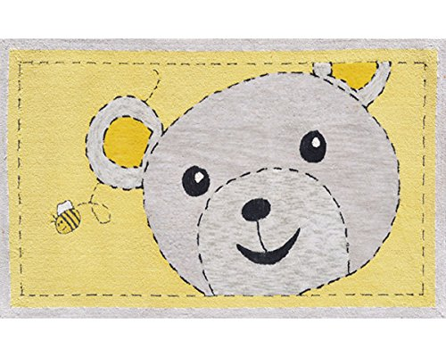 The Rug Market 11852B Handmade Rugs, Bee-Z-Bear, Multicolor
