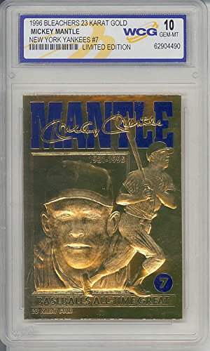 MICKEY MANTLE 1996 23KT Gold Card *Baseball's All-Time Great* Graded GEM MINT 10 (Baseball Gems compare prices)