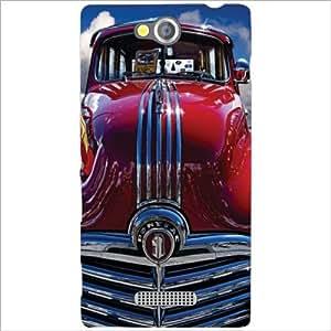 Sony Xperia C Back Cover - Vintage Car Designer Cases