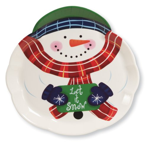 Creative Converting 61623 Plastic Snowman Shaped Tray, 14-Inch (Christmas Tray compare prices)