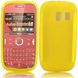 Gel Case Cover Skin For Nokia Asha 302 / Yellow