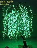 4.9' Pre-lit LED Green Willow Tree Light Garden Patio Outdoor Indoor