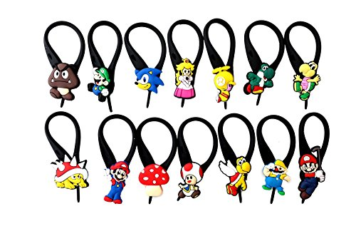 14 pcs Mario Brothers # 3 Soft Zipper Pull Charms for Bag Jacket