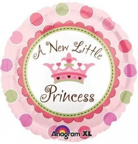 A New Little Princess Baby Girl 18 Inch Foil Balloon front-886357
