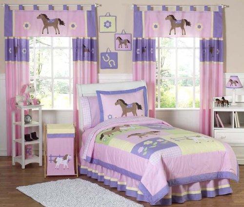 Pretty Pony Horse Children's Bedding 4pc Twin Set