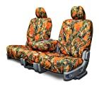 Custom Fit Seat Covers For Ford/Mazda 40-60 Style Seats - Orange Camouflage