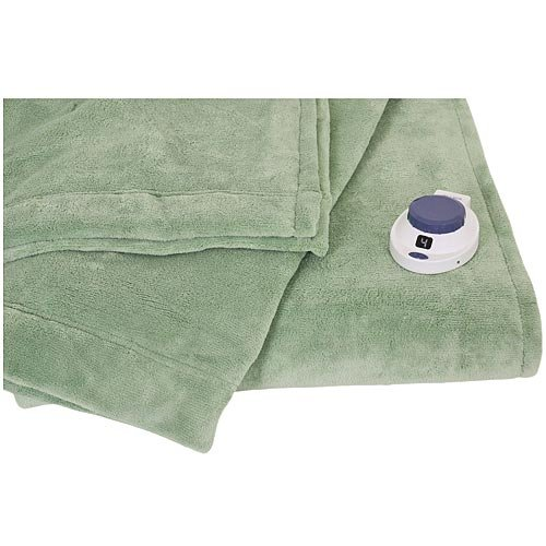 Soft Heat Luxe Plush Microplush Low Voltage Electric Heated Blanket Twin Size Emerald