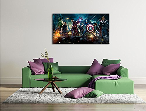 marvel heroes peinture sur toile xxl normes photos. Black Bedroom Furniture Sets. Home Design Ideas