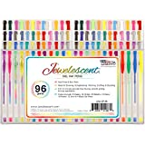 US Art Supply® Jewelescent® - 96 Gel Pen Set - Professional Artist Quality Gel Ink Pens in Vibrant Colors - Classic, Glitter, Metallic, Neon, Pastel & Swirl Colors - 100% Guarantee