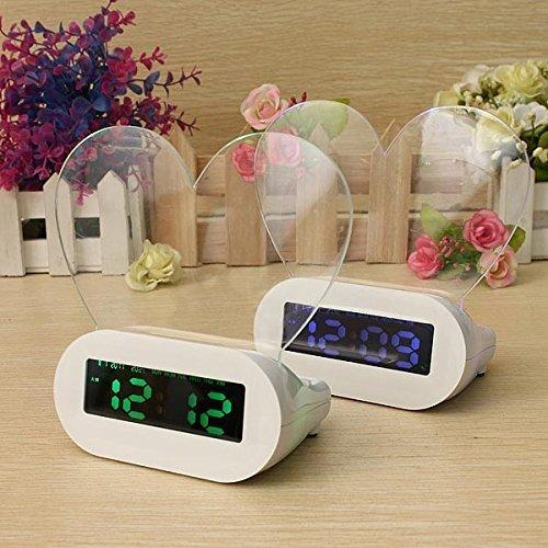 Tna (Green Backlight) Led Light Fluorescent Message Board Digital Alarm Clock Calendar Thermometer With Flashlight And Usb Light